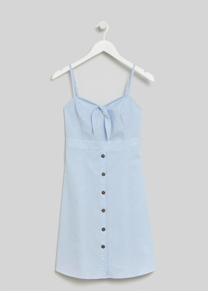 Tie Button Front Cami Dress