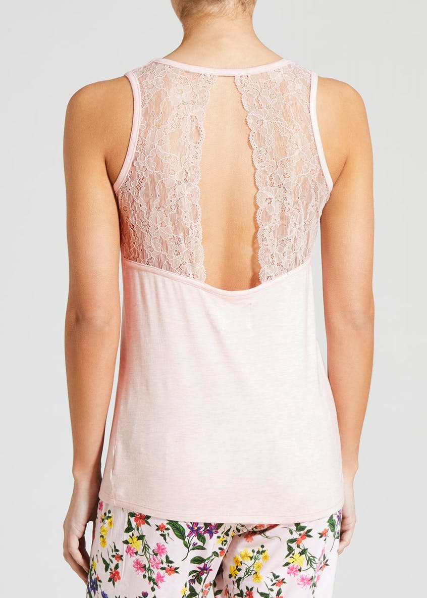 Lace Back Viscose Pyjama Top