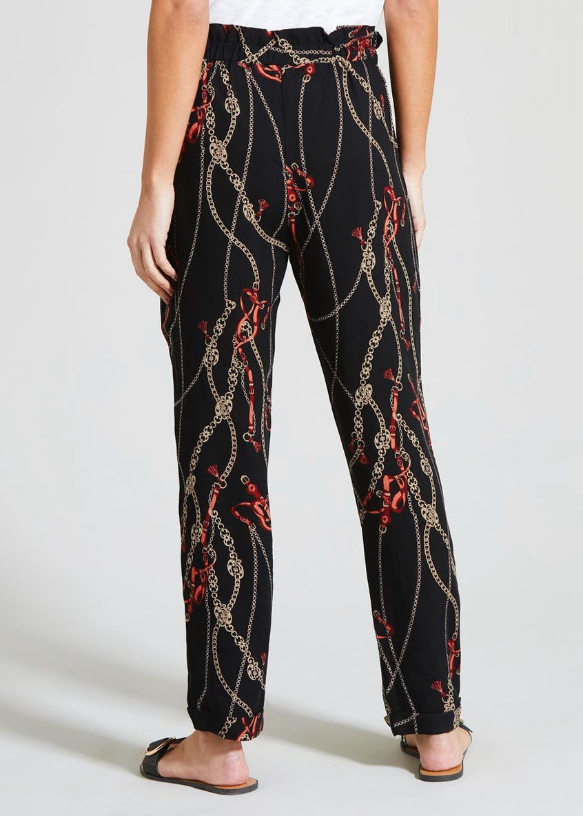 Chain Print Tapered Trousers