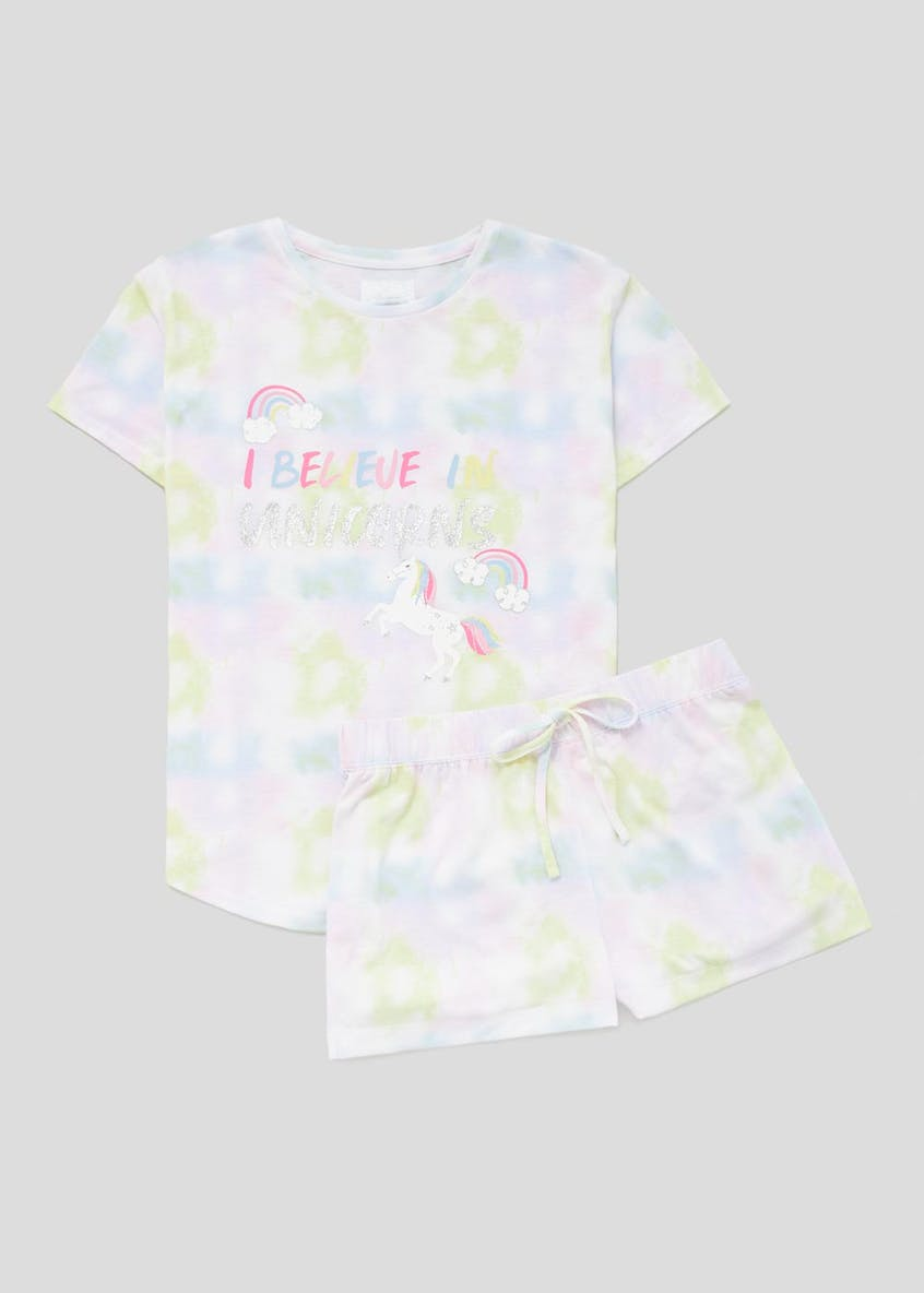 Unicorn Slogan Short Pyjama Set