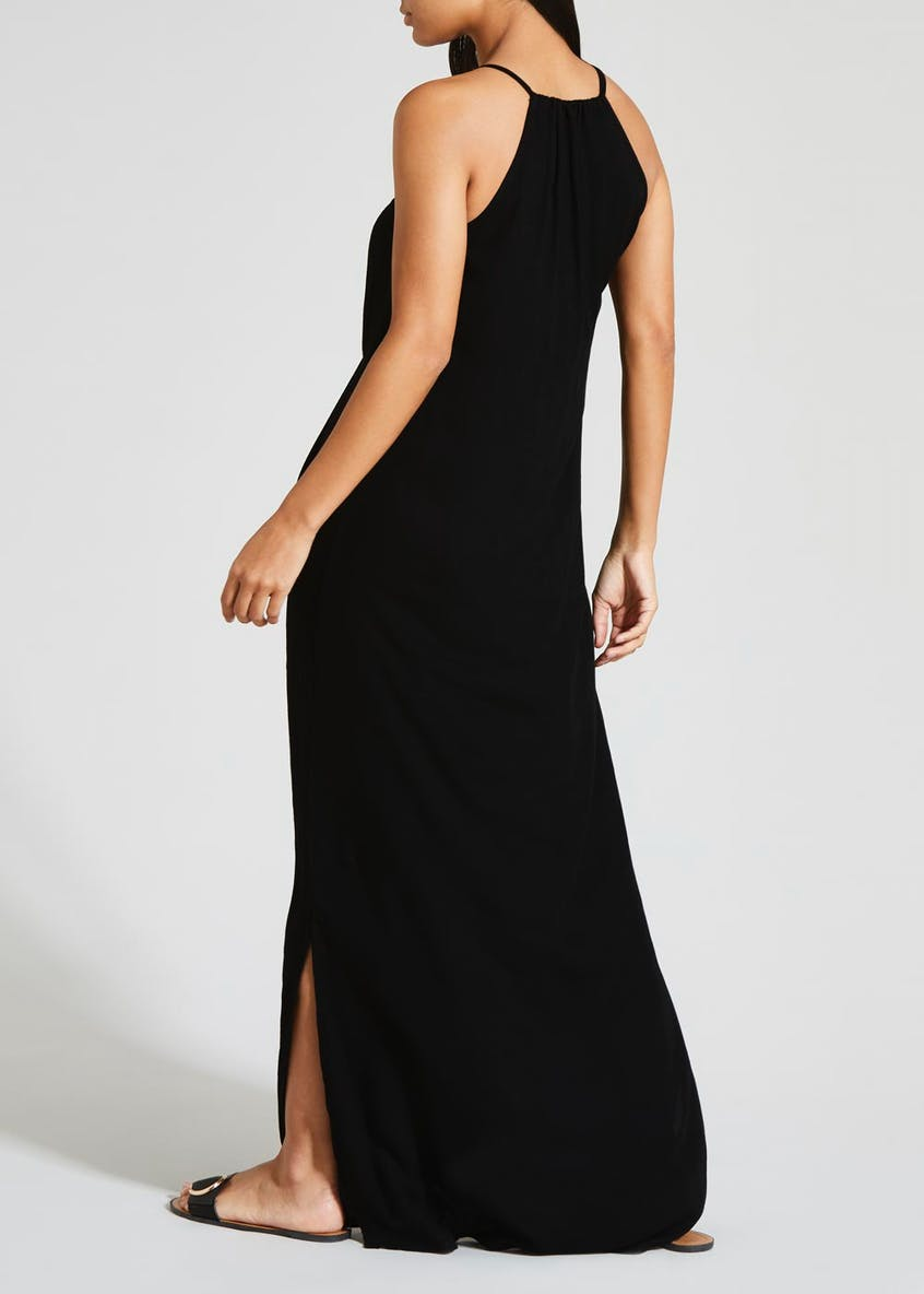 Stud Trim Maxi Dress