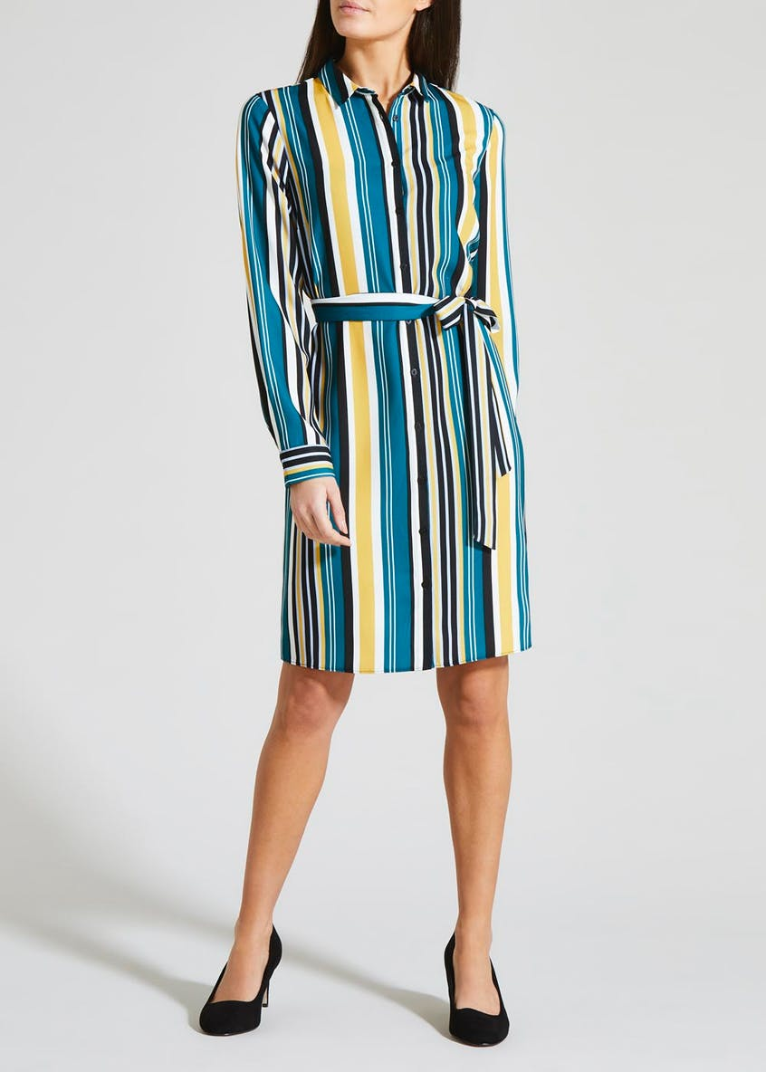 Stripe Midi Shirt Dress