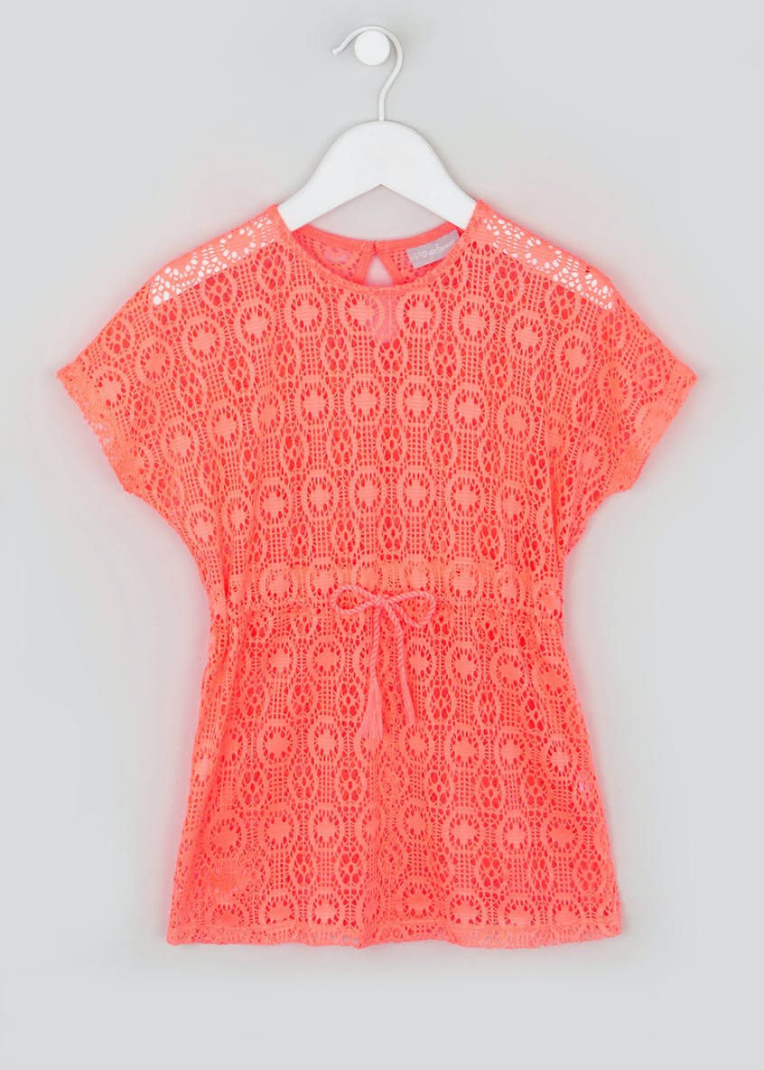 Girls Crochet Kaftan Dress (4-13yrs)