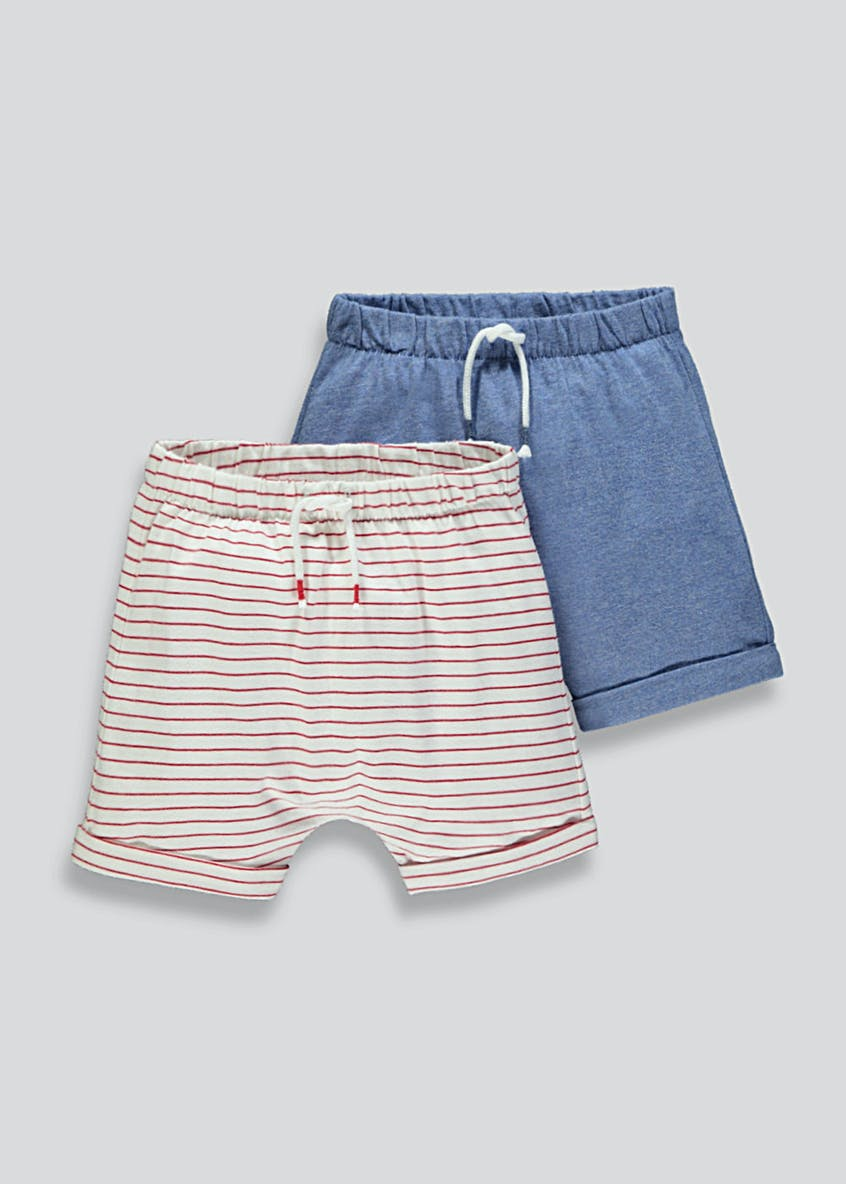 Boys 2 Pack Shorts (Newborn-18mths)