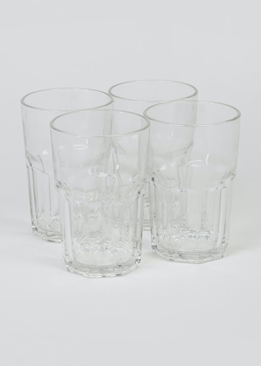 4 Piece Glass Tumbler Set (12cm x 8cm)