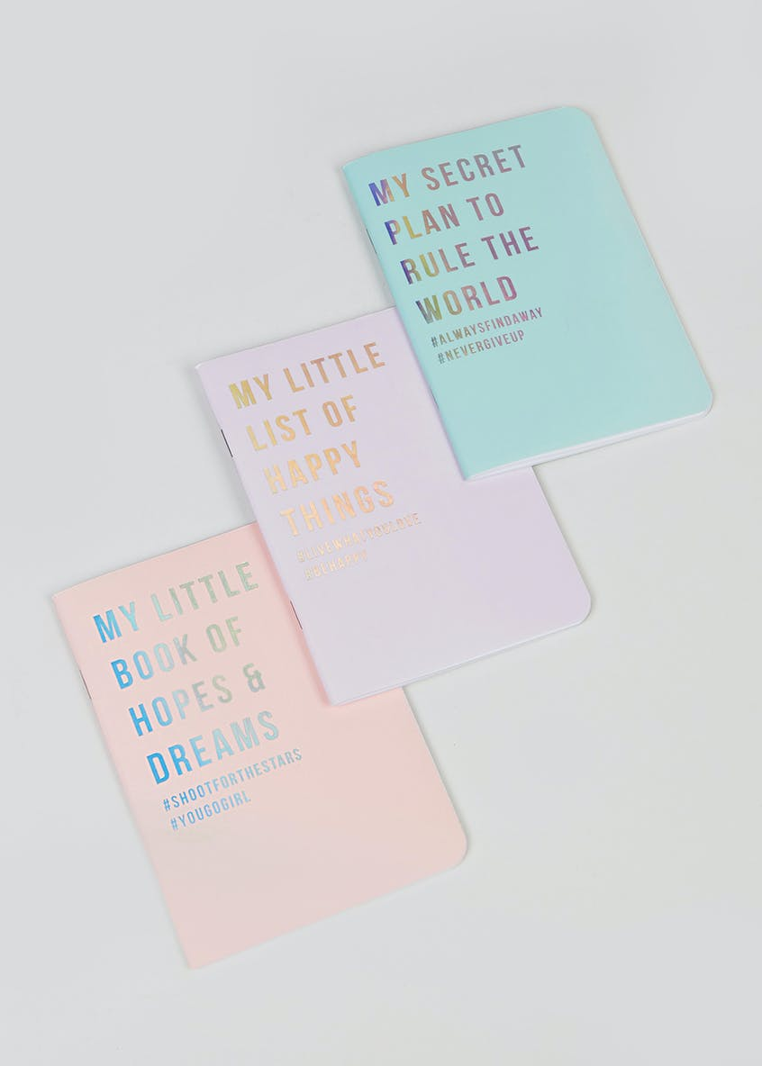 Set of 3 Mini Notepads (A6)