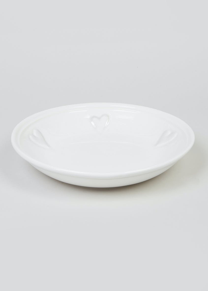 Heart Embossed Pasta Bowl (24cm)
