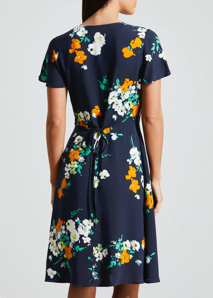 Floral Viscose Tea Dress