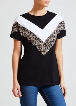 Animal Print Chevron T-Shirt