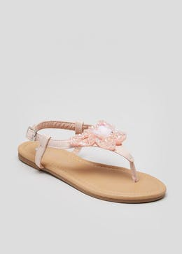 3500a3dcd751 Girls Butterfly Toe Post Sandals (Younger 10-Older 5)