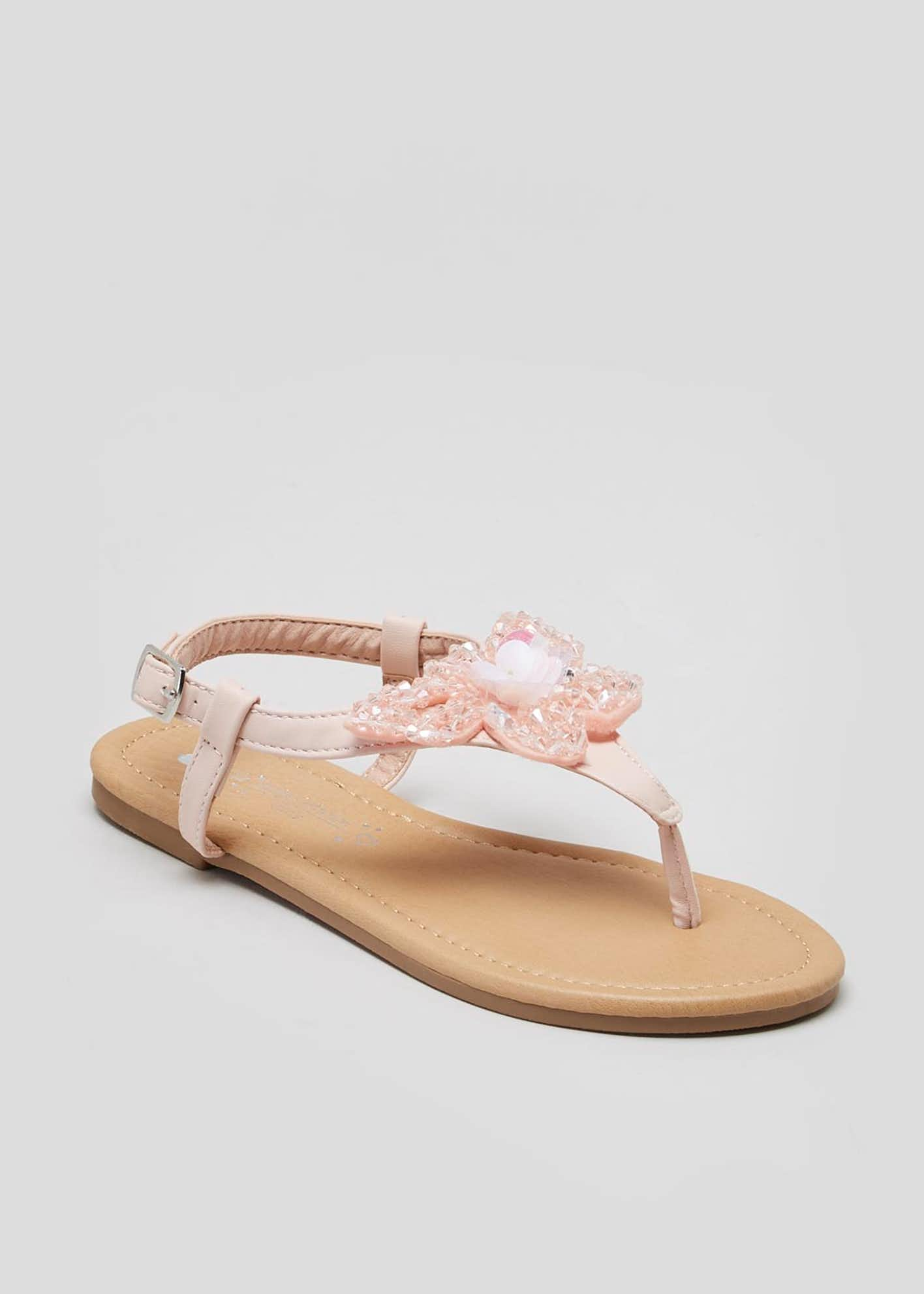 Girls Butterfly Toe Post Sandals (Younger 10-Older 5)