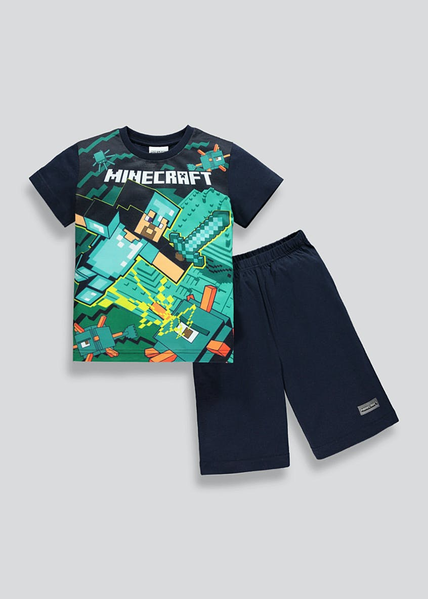Kids Minecraft Short Pyjama Set (5-12yrs)