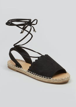 8f54ba3abfc1 Wide Fit Scalloped Espadrille Sandals