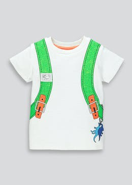 Kids Dinosaur Backpack T-Shirt (9mths-6yrs)