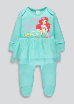Girls Disney Princess Ariel Baby Grow (Newborn-12mths)