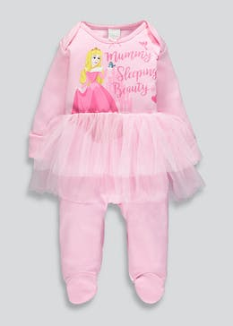 Girls Disney Princess Aurora Baby Grow (Newborn-12mths)