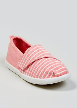 537e89579a3b Girls Stripe Slip On Canvas Pumps (Younger 4-12)