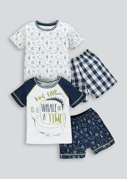 Boys 2 Pack Pyjama Set (9mths-5yrs)