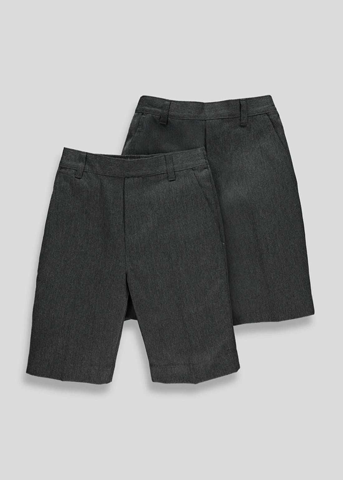 Boys 2 Pack School Shorts (4-13yrs)
