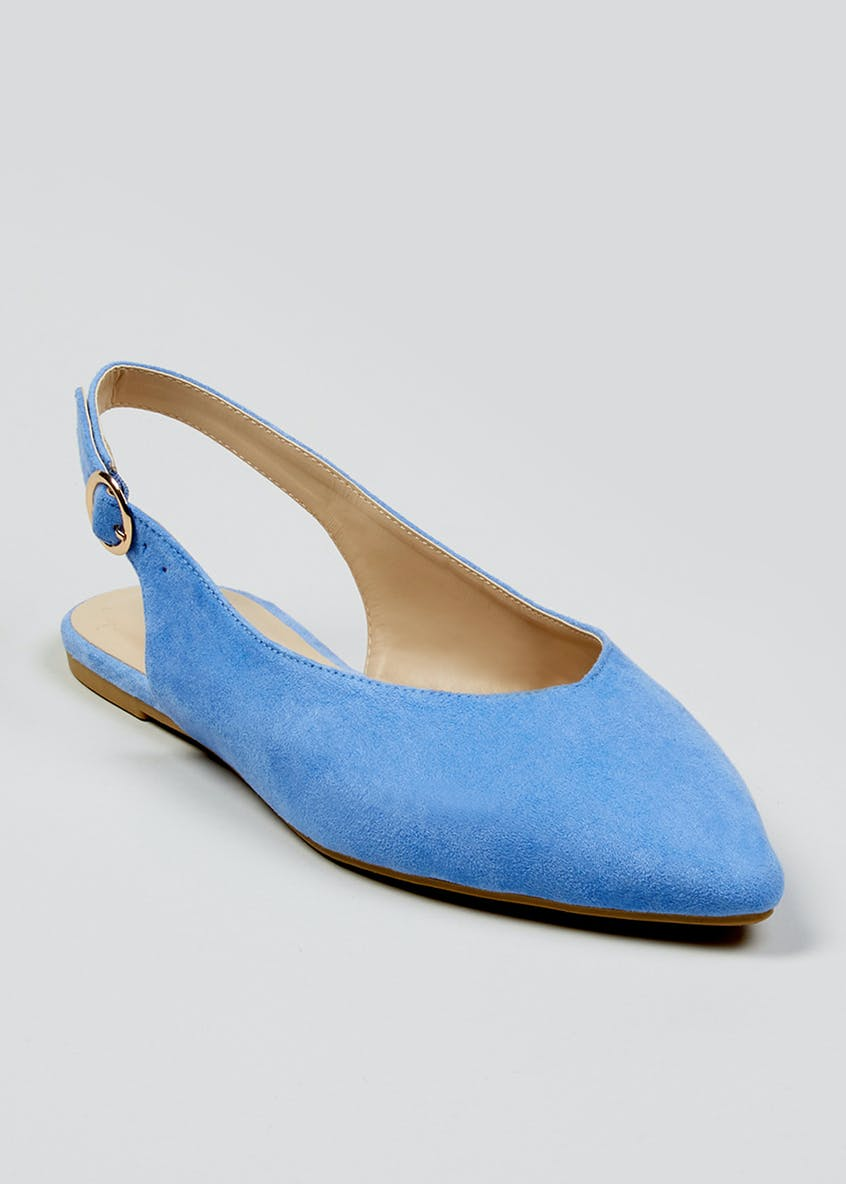Sling Back Pointed Shoes