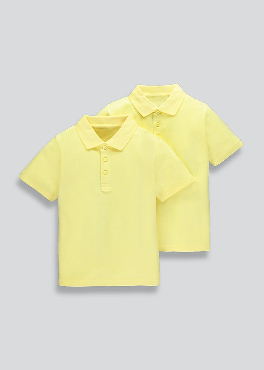 Unisex 2 Pack School Polo Shirts (3-16yrs)
