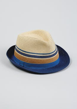 Kids Straw Trilby Hat (4-13yrs)