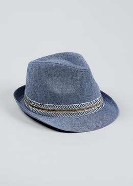 f163219b21f Kids Chambray Trilby Hat (4-13yrs)