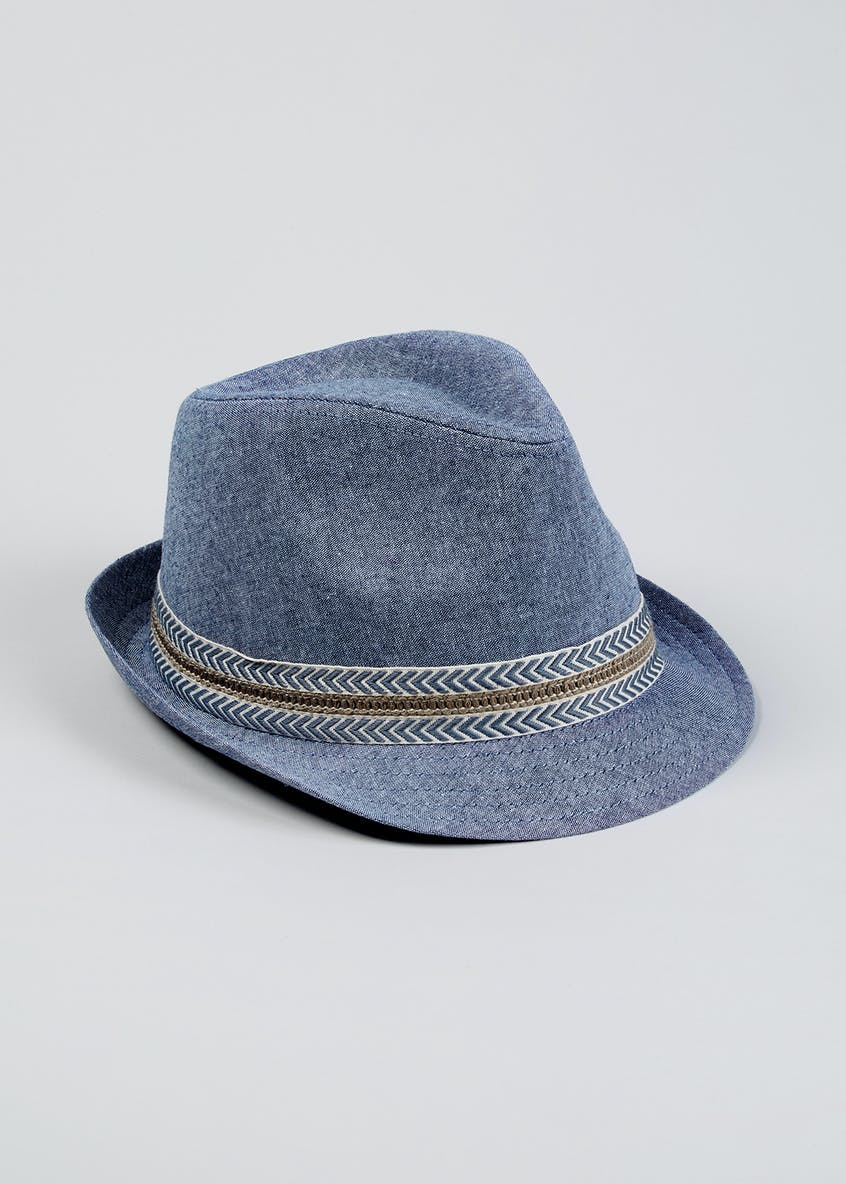 Kids Chambray Trilby Hat (4-13yrs)
