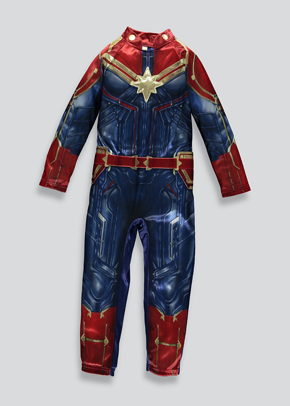 Kids Captain Marvel Fancy Dress Costume 3 9yrs Blue