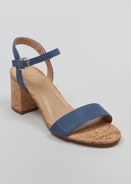 5b71a0bfb8c1 Cork Block Heel Sandals