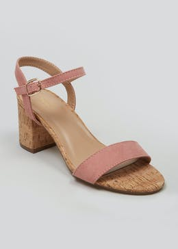 a976abb05fde2 Cork Block Heel Sandals