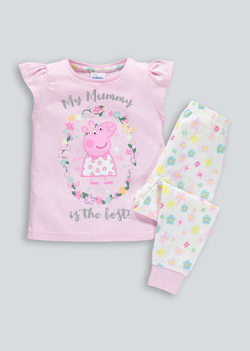 Girls Peppa Pig Mothers Day Pyjamas (9mths-5yrs)