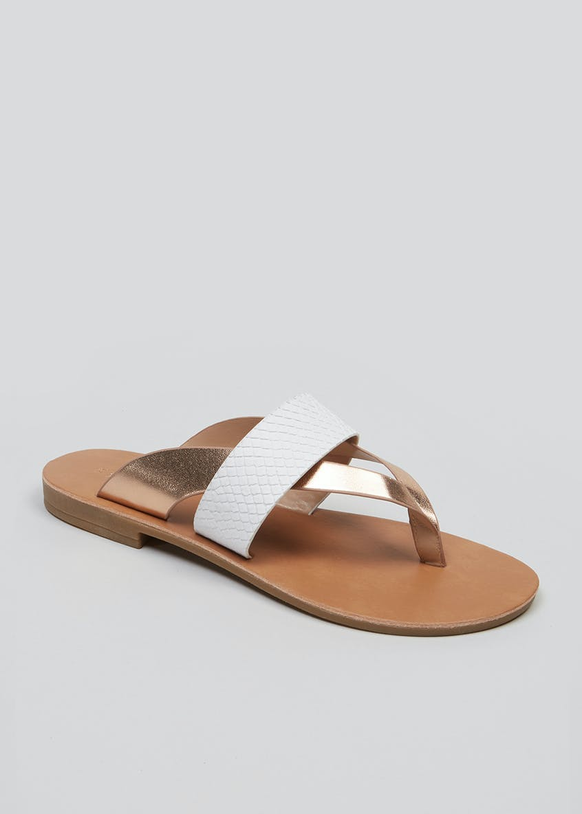 Wide Fit Toe Post Sandals