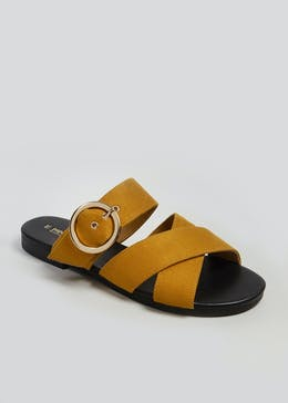b0797f3388be28 Ring Buckle Mule Sandals