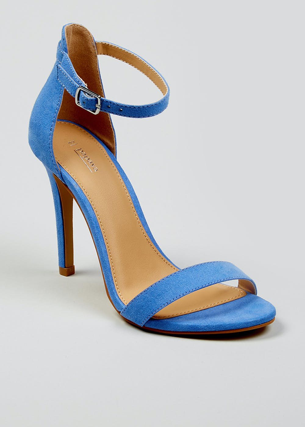 88c45d242 Barely There Strappy Heels – Blue – Matalan