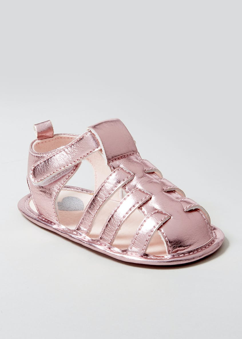 Girls Soft Sole Caged Sandals (Newborn-18mths)