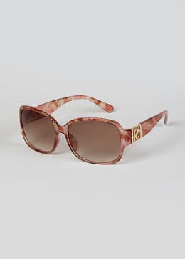 Foster Grant Printed Frame Oversized Sunglasses