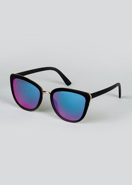 Foster Grant Rubberized Retro Cat Eye Sunglasses