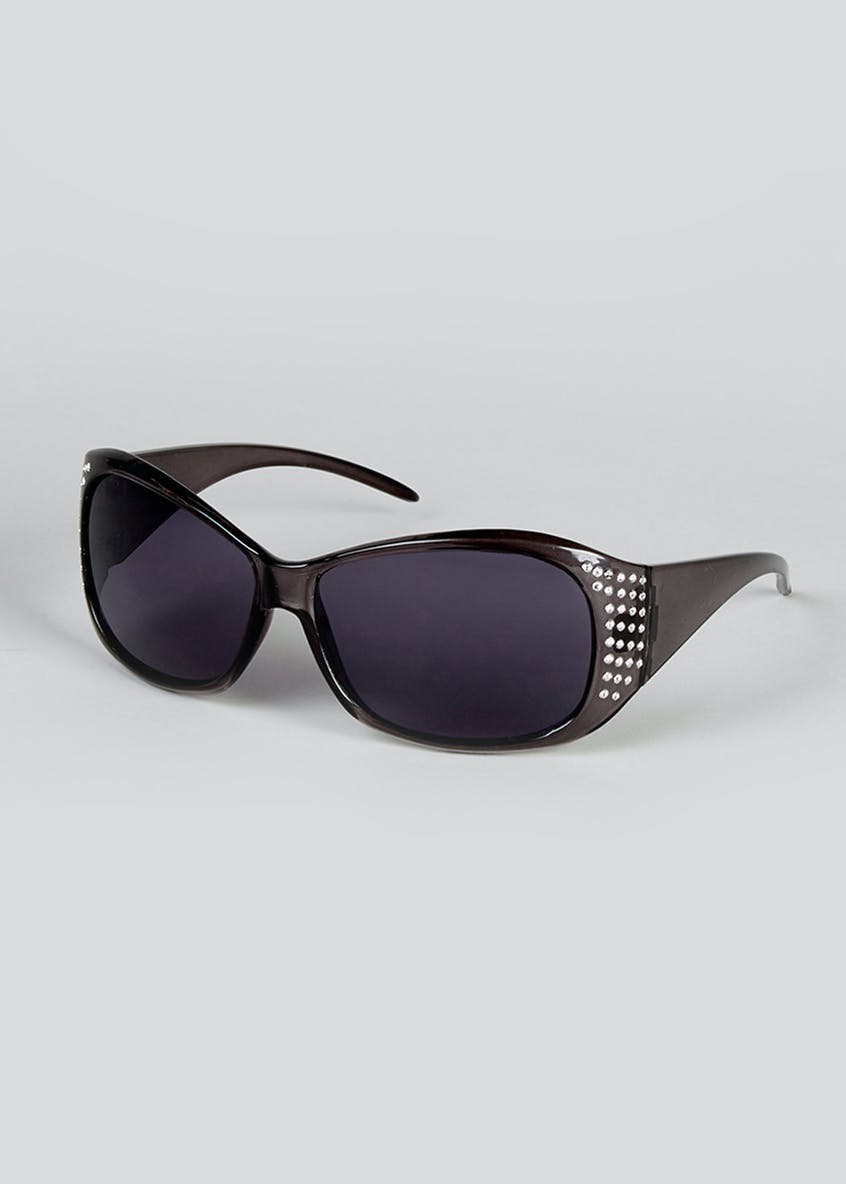 Diamante Square Frame Sunglasses