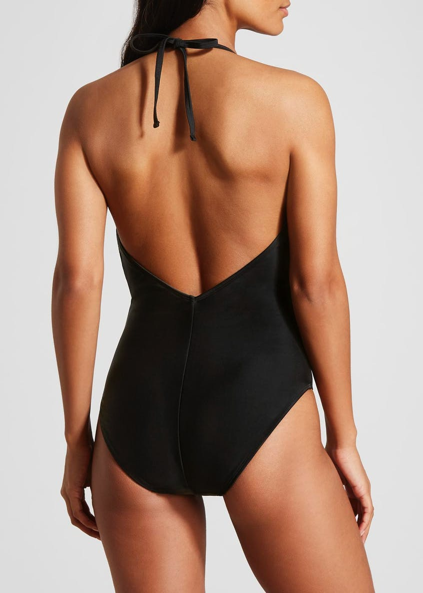 Trim Halterneck Swimsuit