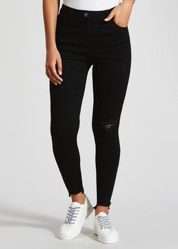 April Ripped Step Hem Super Skinny Jeans