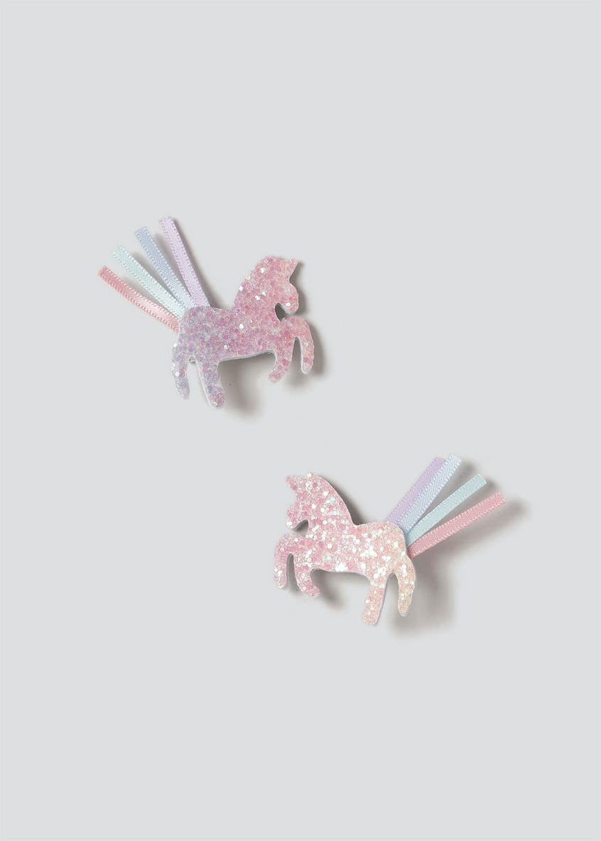 Glitter Unicorn Hair Clips