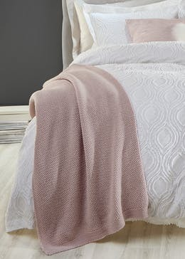 Farhi by Nicole Farhi Knitted Wool Blend Throw (200cm x 140cm)