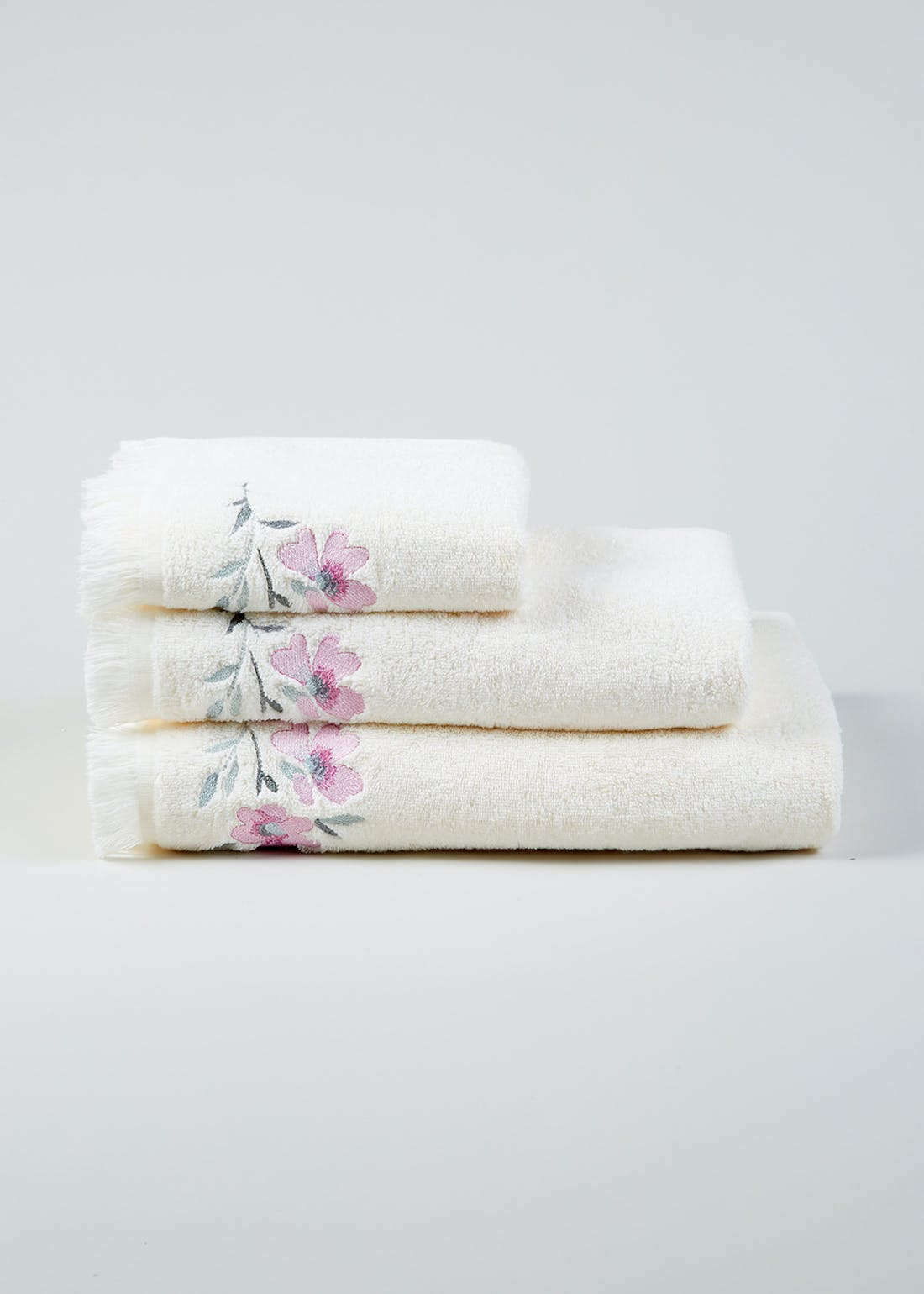 Floral Embroidered Towels