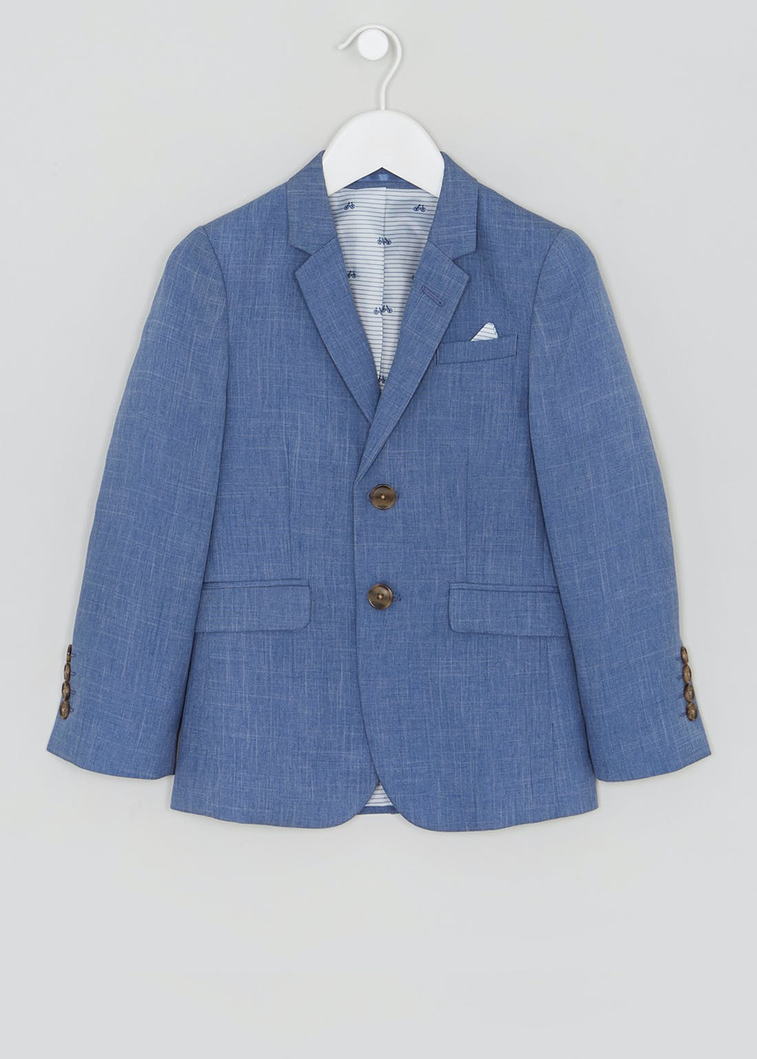 Boys Chambray Suit Jacket (4-13yrs)