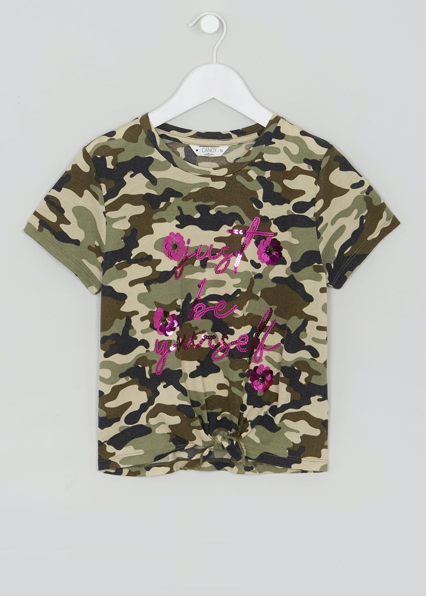 Girls Candy Couture Camo T-Shirt (9-16yrs)