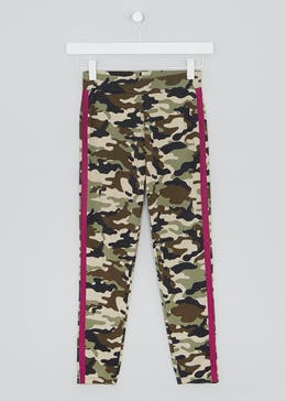 Girls Candy Couture Camo Leggings (9-16yrs)