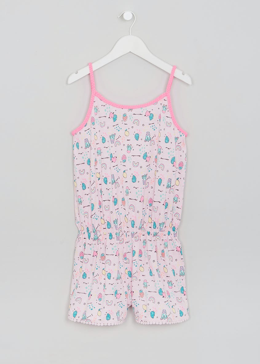 Girls Cactus Playsuit Pyjamas (4-13yrs)