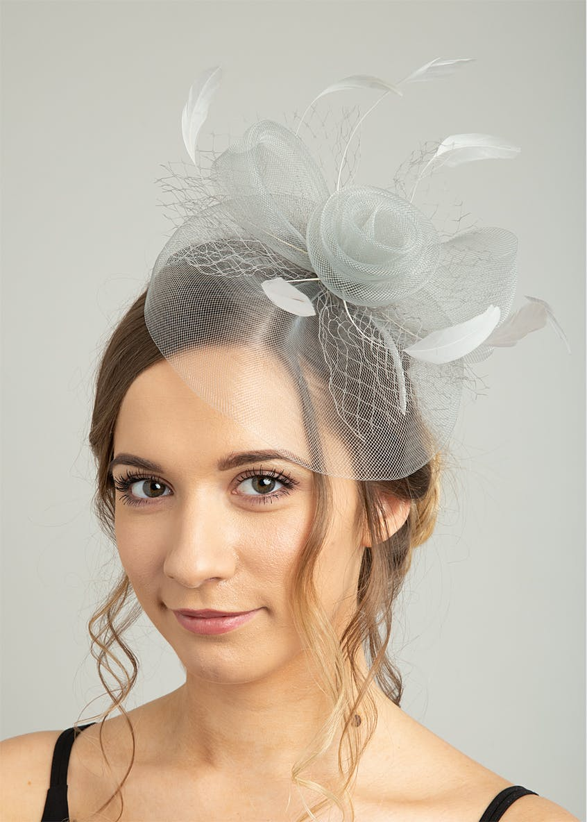 Rose & Feather Fascinator