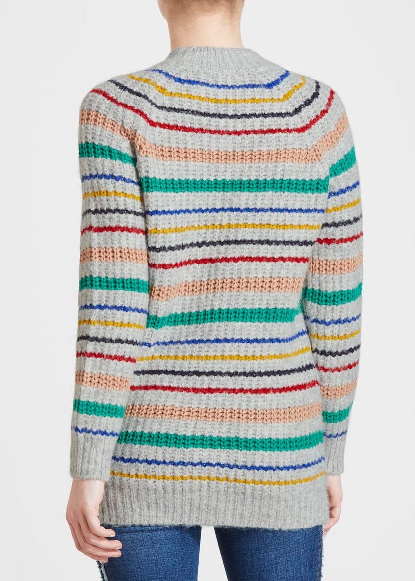 Papaya Petite Stripe Tunic Jumper
